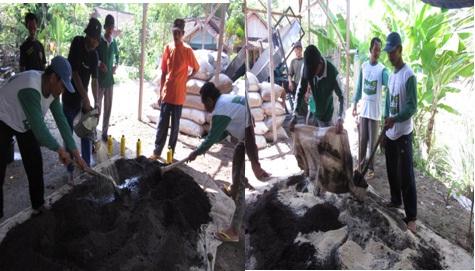 Pembuatan Bokashi Pupuk Kandang <BR>Kotoran Sapi dan Arang Sekam menggunakan Dekomposer EM4